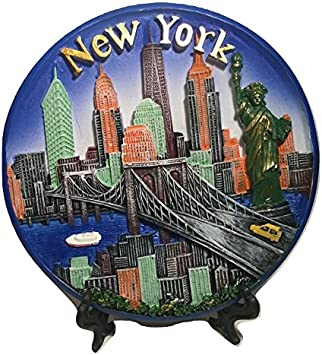 State Of New York Iron On Patch NY Empire State Statue of Liberty Travel Souvenir