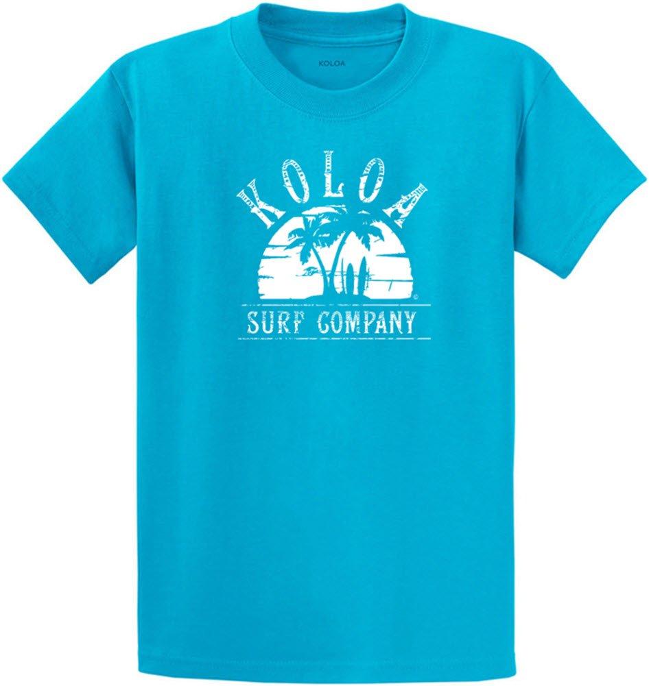 Joe's USA SHIRT メンズ B07B9MGDG3 Regular 2X-Large (47-49)|Turquoise With White Palms at Sunset Design Turquoise With White Palms at Sunset Design Regular 2X-Large (47-49)