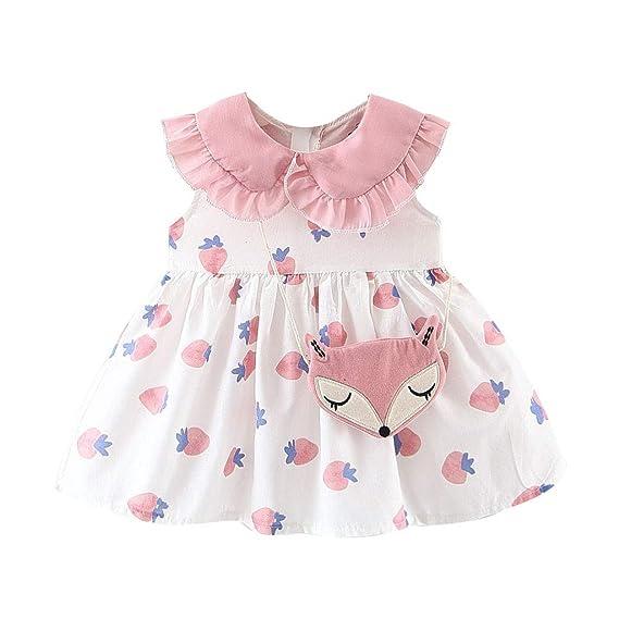 Baiomawzh Ropa Bebe Niña Verano-2Pc Vestido para Recien Nacido Bebés ...