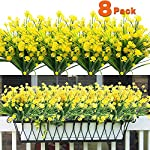 8PCS-Artificial-Flowers-Outdoor-UV-Resistant-Plants-8-Branches-Faux-Plastic-Corn-flower-Greenery-Shrubs-Plants-Indoor-Outside-Hanging-Planter-Kitchen-Home-Wedding-Office-Garden-Decor