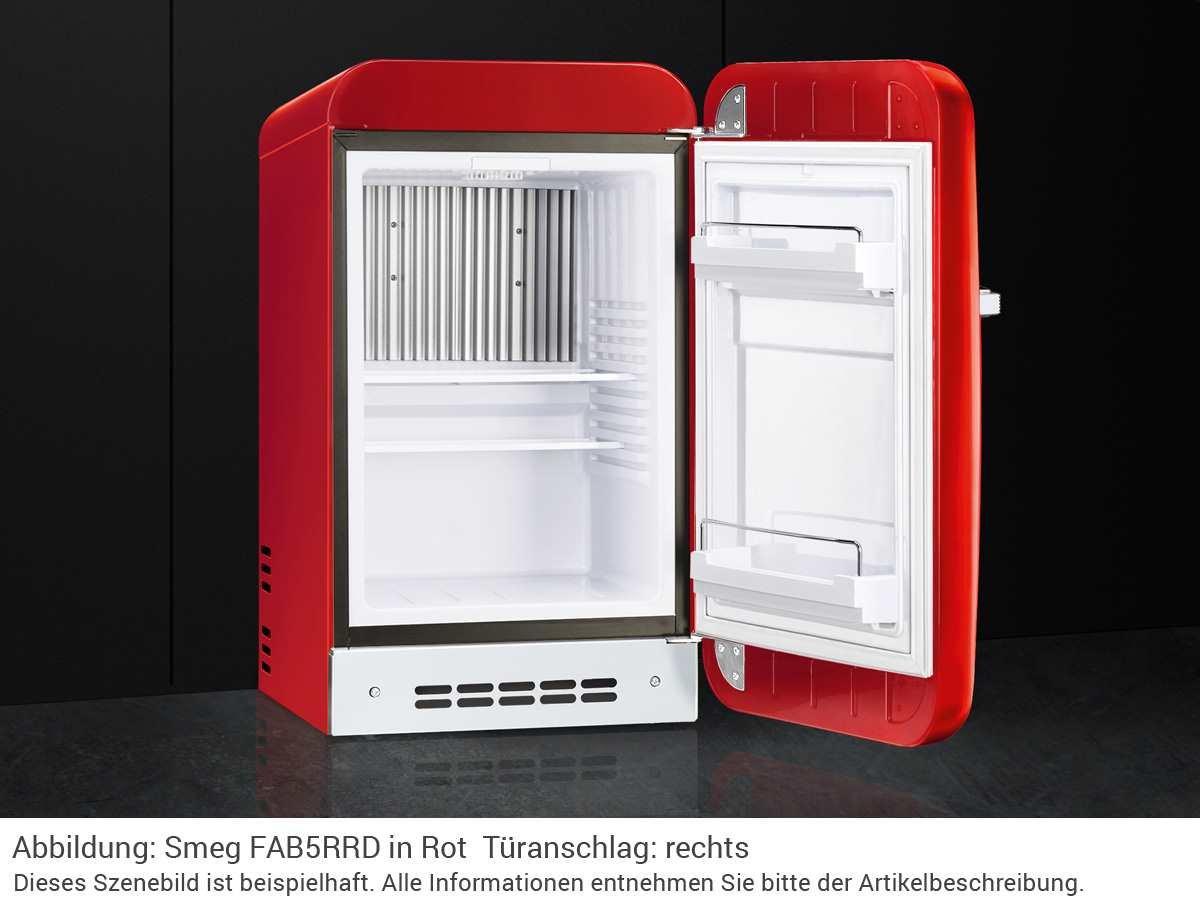 Retro Kühlschrank Linksanschlag : Smeg fab lrd autonome l d rot kühlschrank u kühlschränke