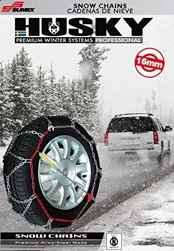 MP Essentials Sumex Husky Winter Professional 16mm 4WD Snow Chains for 19 Car Wheel Tyres 255//35 R19 Pair