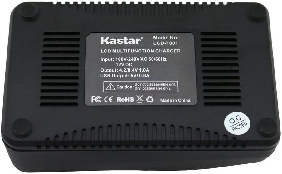 Kastar LCD Fast Charger Kit for Sony NP-F990 NP-F975 NP-F970 NP-F960 NP-F950 NP-F930 NP-F770 NP-F750 NP-F730 NP-F570 NP-F550 NP-F530 NP-F330 Battery Sony Camcorder and LED Video Light