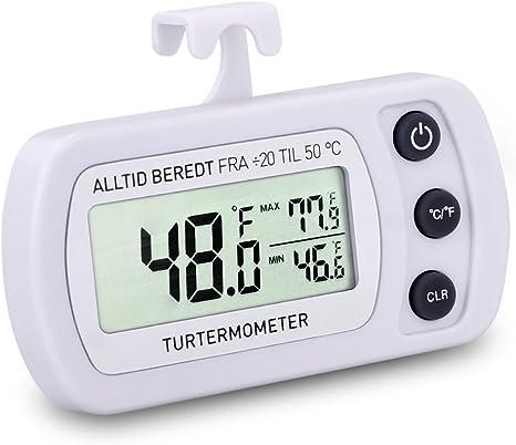 marsboy Termómetro Digital para frigorífico Congelador Nevera ...