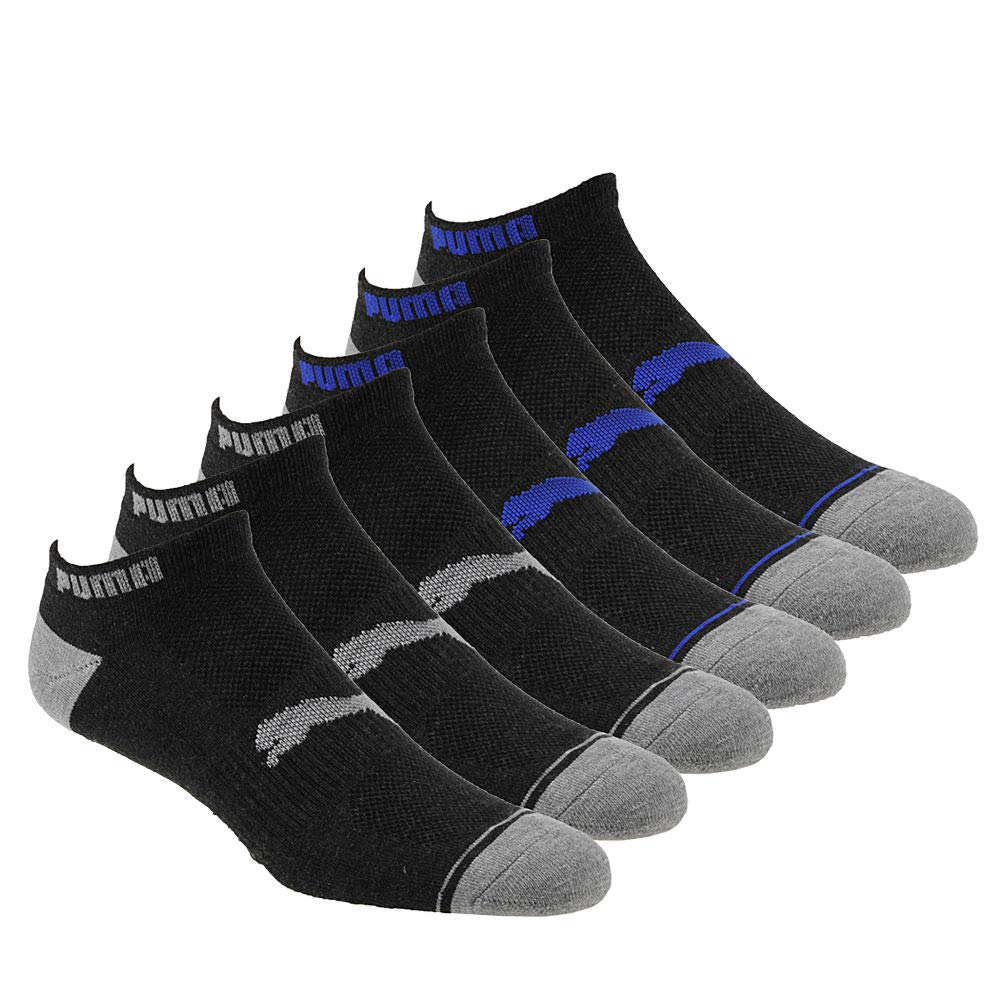 PUMA Mens P113427 Low Cut 6 Pack Socks