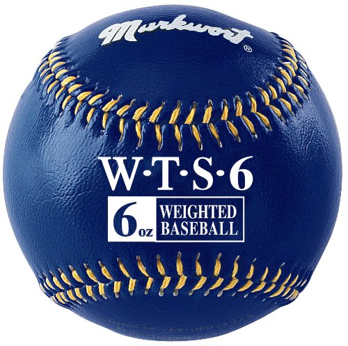 Markwort Synthetic Cover Weighted Baseball, Navy, 6 oz