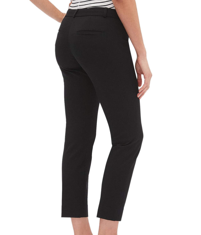 Banana Republic Womens Mid Rise Sloan Crop Casual Pants Black