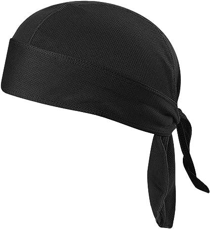 Lixada Fahrrad Schwei/ßableitende M/ütze Outdoor Sport Fahrrad atmungsaktiv Hat Quick-Dry Bike Radfahren Kopftuch Pirat Schal Stirnband