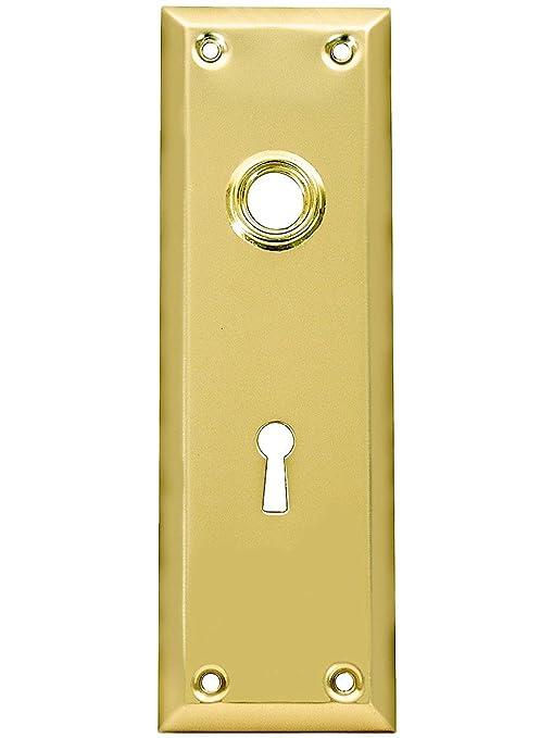 Amazon.com: Nueva York plato de puerta con Keyhole, de ...