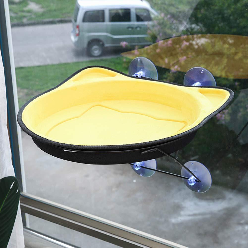 Cat Window Hammock, Beds Perch, Kitty Ledge, Cats Sunny Seats, Hammocks Window Sill, Large, Yellow by CostumeStore