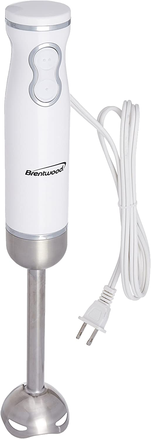 Brentwood Appliances HB-36W 2-Speed 300W Electric Hand Blender, White