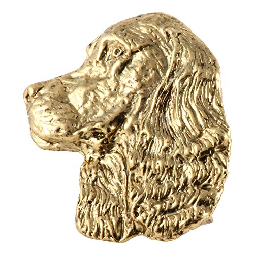 Creative Pewter Designs Springer Spaniel Dog 22k Gold Plated Lapel Pin, Brooch, Jewelry, DG172