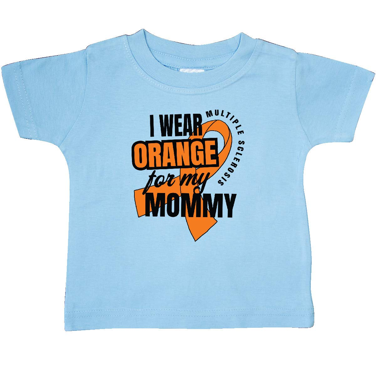 inktastic I Wear Orange for My Mommy Multiple Sclerosis Awareness Baby T-Shirt