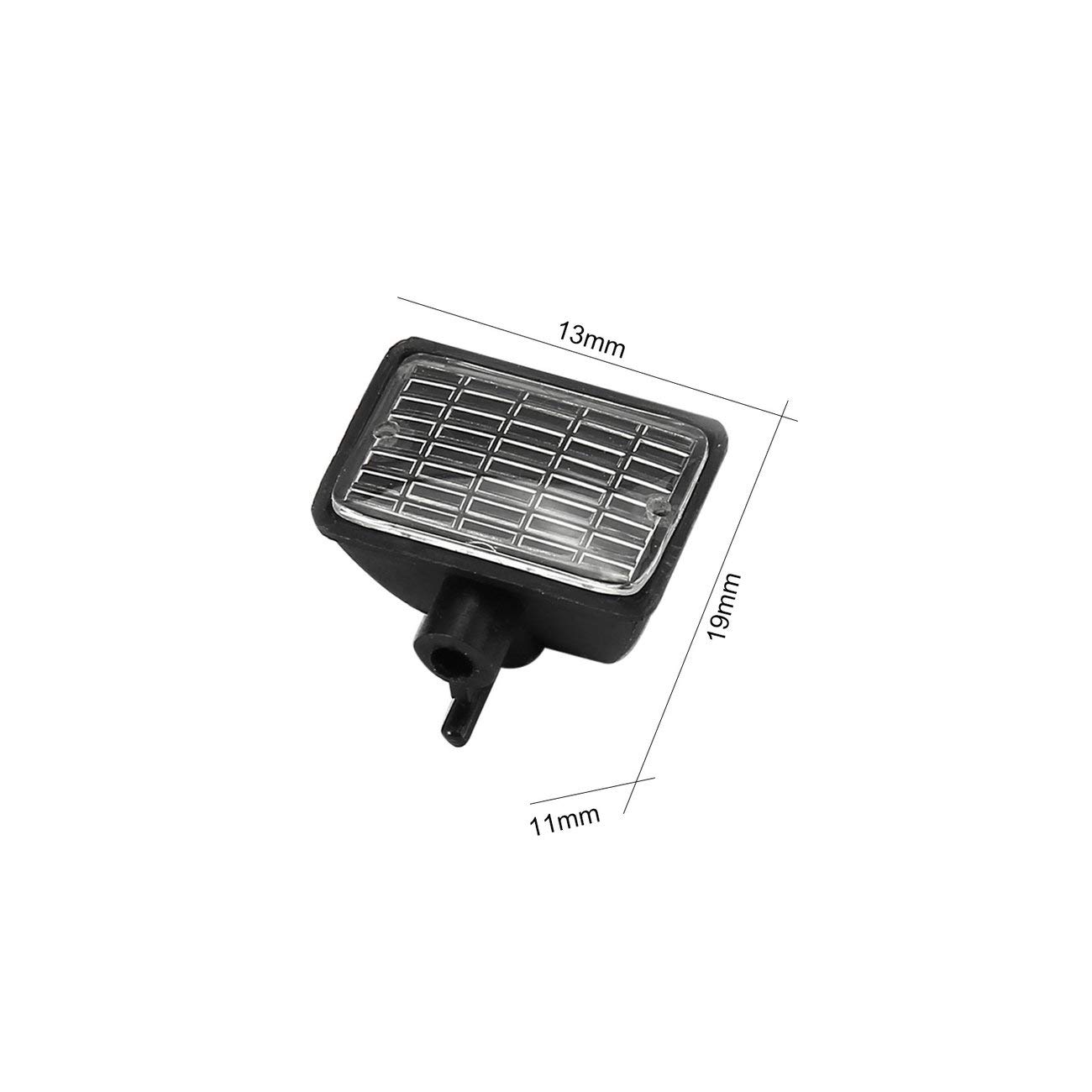 Pantalla de luz cuadrada AUSTAR 2pcs LED para 1//10 RC modelo de coche escalada Axial SCX10