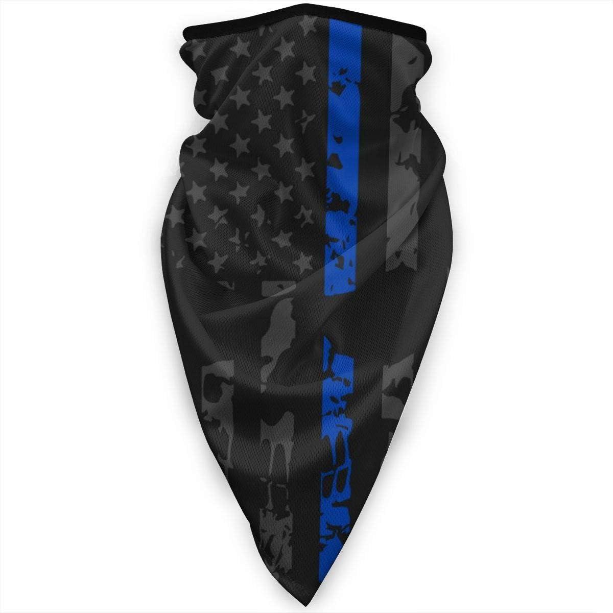 Police Appreciation Face scarf Blue Punisher Balaclava Headwear UV Fishing