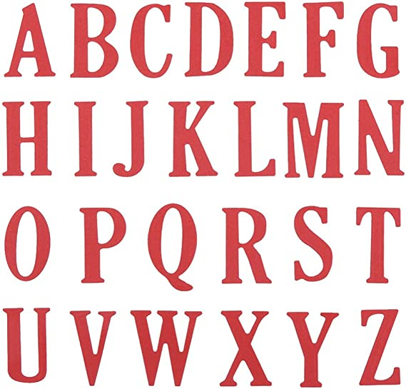 Alphabet Stencils ICEBLUEOR 26 Pieces Alphabet Stencils Set Plastic Letter Stencils for Learning Painting,Scrapbooking and DIY Crafts 4 inches