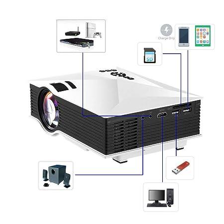 LMtt Proyector casero, proyector Video de HD, teléfono móvil UC46 ...