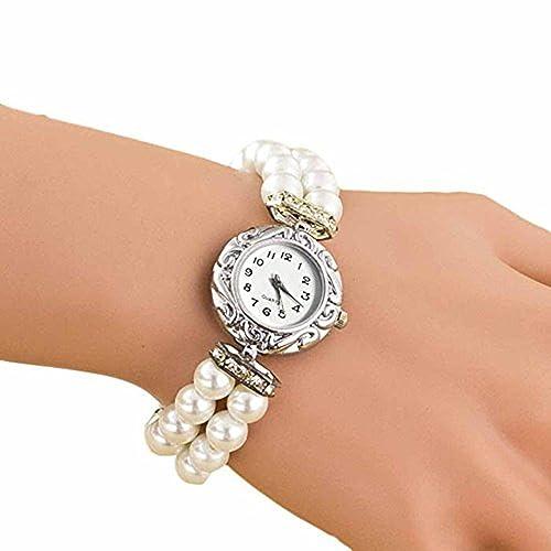 Frauen Armbanduhr, rawdah Studenten Schöne Perle Quarz Armband
