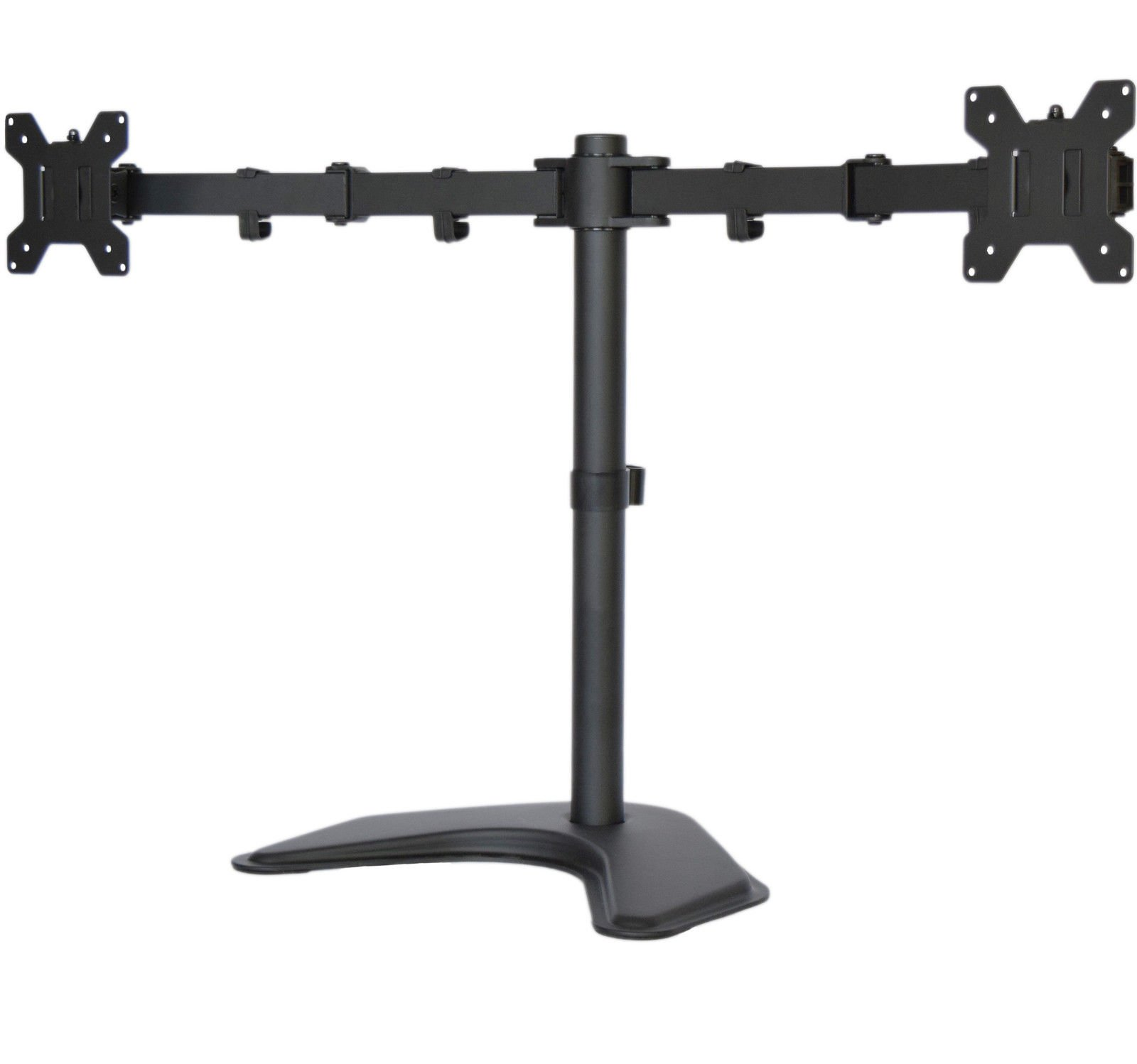Dual LCD Monitor Desk Stand/Mount Free Standing Adjustable 2 Screens up to 27''