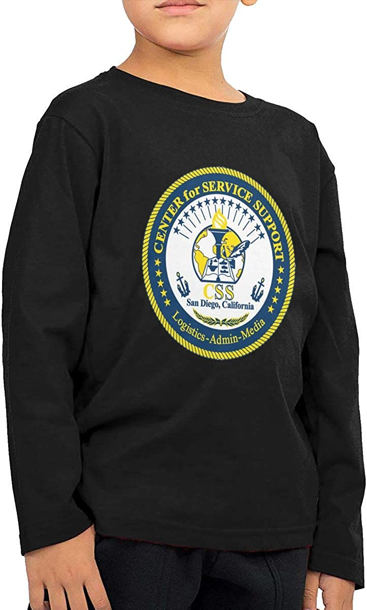 Center for Service Support San Diego CA Children's Long Sleeve T-Shirt Boy's Cotton Tee Tops