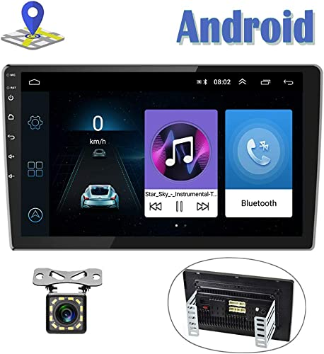 Android Car Radio 9 Inch Touch Screen GPS Sat Navi Stereo Player AMprime 2 Din Bluetooth WiFi FM Receiver Mobile Phone Mirror Link Dual USB Backup Camera