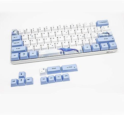 Geeksocial 104 PBT Full Keycaps Set OEM Keycap for MX ANSI Mechanical Keyboard Dye-Sublimation Whale