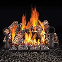 """Fiberglow Series GL18NE 18"""""""" Vented Natural Gas Log Set with Electronic Ignition Up to 55 000 BTU's PHAZER Log Set Cast Iron Grate and Back-up Control System"""