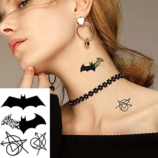 ljmljm Etiqueta engomada Impermeable del Tatuaje de 3 PC Letra ...