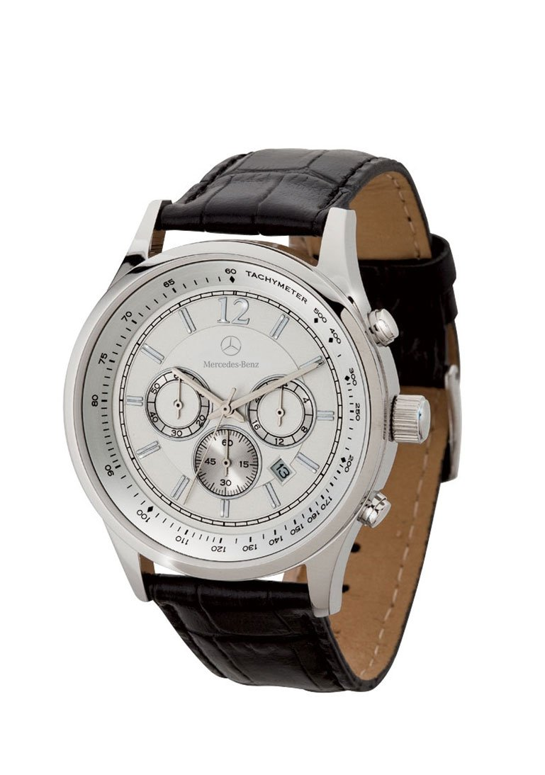 Mercedes Benz Men's Chronograph Watch with Crocodile Patterned Leather Straps by Mercedes-Benz