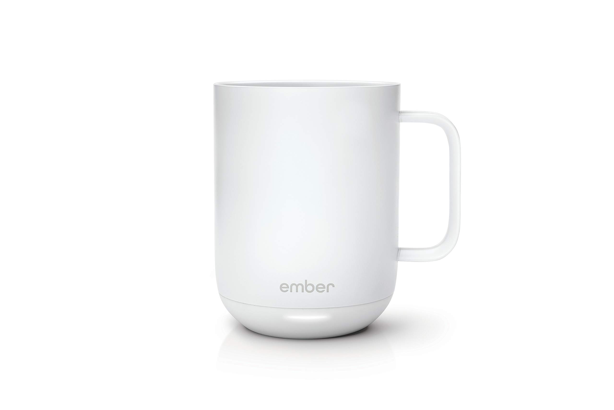 Ember Temperature Control Smart Mug, 10 Ounce, 1-hr Battery Life, White - App Controlled Heated Coffee Mug by Ember