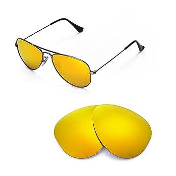 aviator lenses  Amazon.com: Walleva Replacement Lenses for Ray-Ban Aviator RB3044 ...