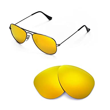 Walleva Replacement Lenses for Ray-Ban Aviator RB3044 Small Metal 52mm  Sunglasses - Multiple Options b3c8820f0