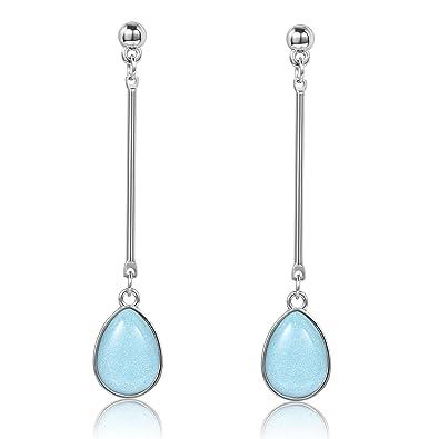 JDGEMSTONE Lovely Teardrop Hook Dangle Earrings for Women XFeeJyW9v