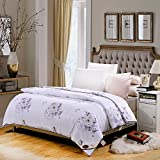 Polyester bed/bedding Warmth Full/Queen/Full/Twin Size Comforter Duvet Insert,Hypoallergenic Box Stitched,Feather Velvet Printed Quilt,Aroma White,200×230cm(3.5Kg)