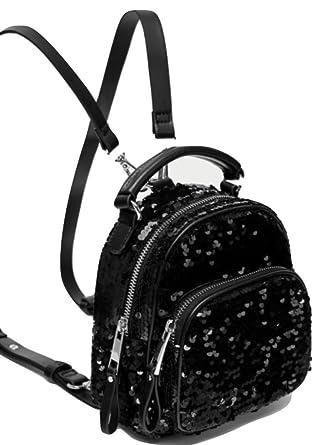 fd7505dfe3 Zara mini Sequinned Backpack BNWT M black gold