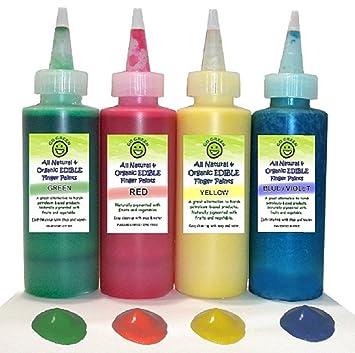 Amazon.com: Go Green Finger Paint - Organic, Edible, All Natural ...