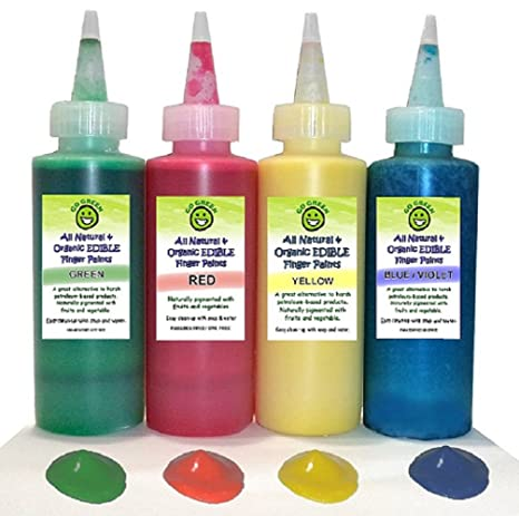 Amazon.com: Go Green Finger Paint - Organic, Edible, All Natural ...