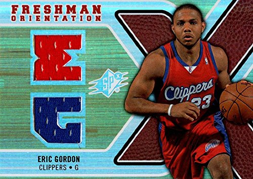 Clippers Eric Gordon (Signed Gordon, Eric (Los Angeles Clippers) Eric Gordon 2008-09 Upper Deck SPX Unsigned Basketball Jersey Card. autographed)
