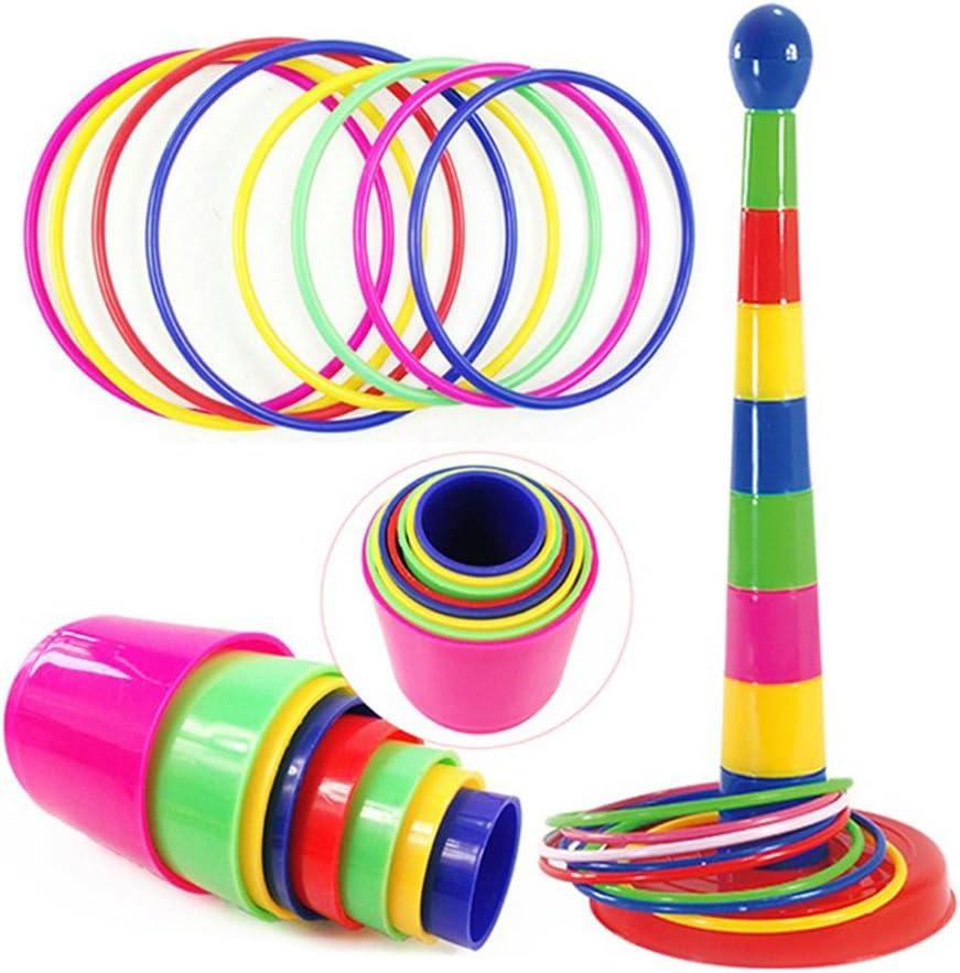 TOYMYTOY Ring Toss Game Plastic Intelligence Development Juego de deportes para padres e hijos Diversión Juegos de familia para niños y adultos