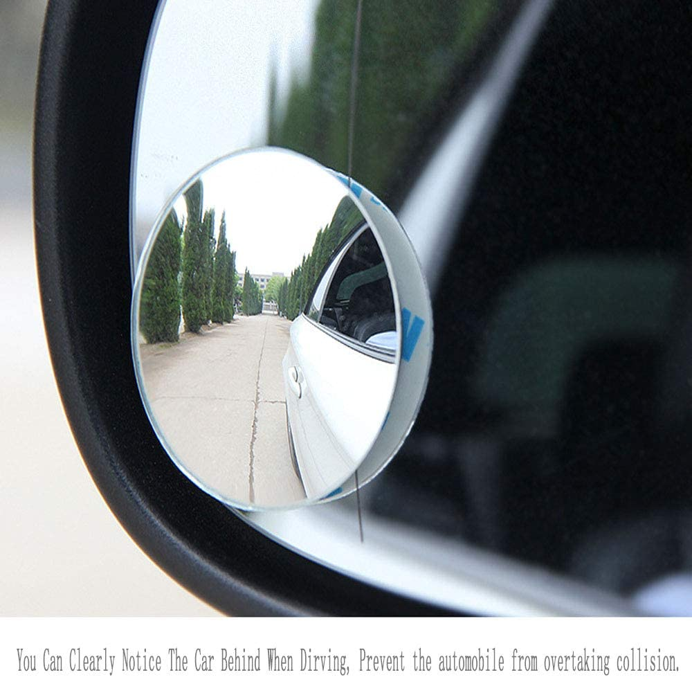 SUV and Trucks 2 Piece Round Mirror Blind Spot Mirror Reversing Mirror Rearview Mirror No Frame Wide Angle Small Round Mirror Wide Angle 360/°Rotate 30/°Sway Adjustable Stick On Mirror for All Cars
