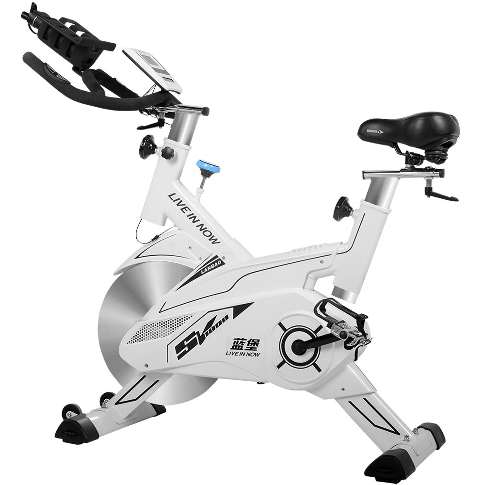 L NOW CycleFire LD-582 Health & Fitness Indoor Stationary Cycling Bike with Pulse for Aerobic and Cardio Exercise and Training(White) by L NOW (Image #2)