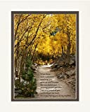 Nephew Gift with Poem Watching You Grow Up and Become This Amazing Person You Are. Aspen Path Photo, 8x10 Double Matted. Special Birthday, for Nephew.
