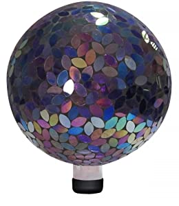 Alpine Mosaic Gazing Ball, 10-Inch, Purple