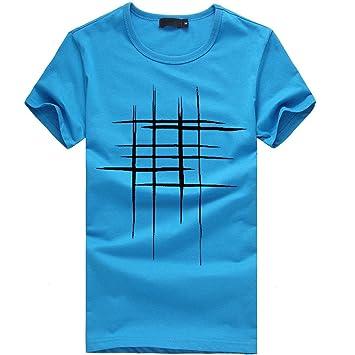 Camisas de hombre manga corta Verano , Amlaiworld Moda Hombre Camisas de impresión baratas tallas grandes