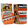 Gorilla Tape Small Roll Tough Pack including Black, White, Silver and Crystal Clear Duct Tape from The Gorilla Glue Company