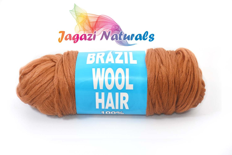 Brazilian Wool hair: Faux Locks, Braids, Twists, Knitting Brazil Wool. Yarn (Black) Jagaziwool
