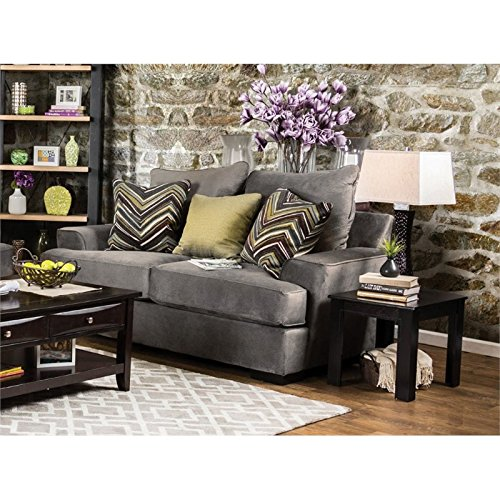Furniture Of America Devon Fabric Loveseat In Olive Gray Best Sofas Online Usa