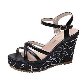 Hot Sale!Sandalen Damen,Sonnena Frauen Casual Mode Mode Casual Keile Schuhe ... 80c311
