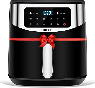 MIMODAY 9-in-1 Electric Air Fryers Oven ( 8-Quart) with Preheat, 160 E-Recipes, Nonstick Pan and Tray, LED Digital Touchscreen, Use Little to No Oil for Roasting/Baking/Grilling, ETL Listed, 1700W
