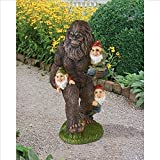 Design Toscano Schlepping The Garden Gnomes Bigfoot Statue, Full Color